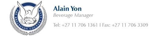 Alain Yon - Tel: 011 706 1361 | 011 706 3309
